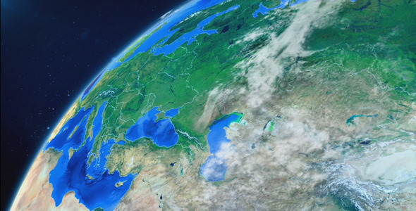 VideoHive World Map Earth Zoom 8586113