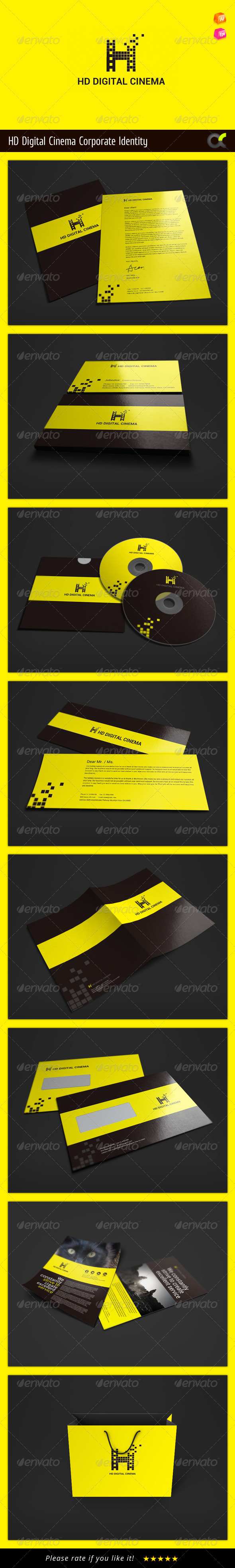 GraphicRiver HD Digital Cinema Corporate Identity 8586121