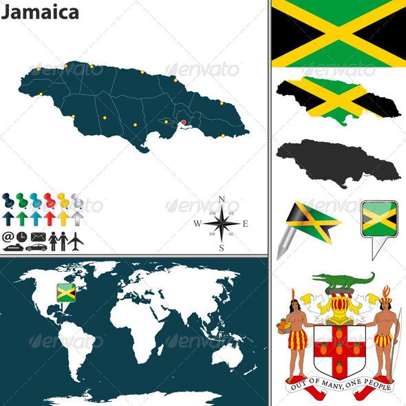 GraphicRiver Map of Jamaica 8586142