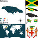 Map of Jamaica - GraphicRiver Item for Sale