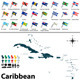 Political Map of Caribbean - GraphicRiver Item for Sale