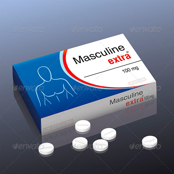 GraphicRiver Masculine Extra Pill 8586419