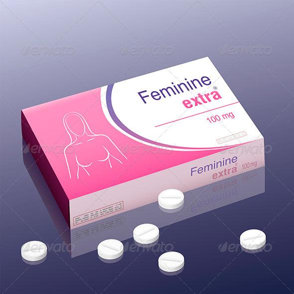 GraphicRiver Feminine Extra Pill 8586463