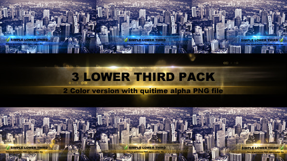 VIDEOHIVE LOWER THIRD PACK - MOTION GRAPHICS - Ae-Downloads