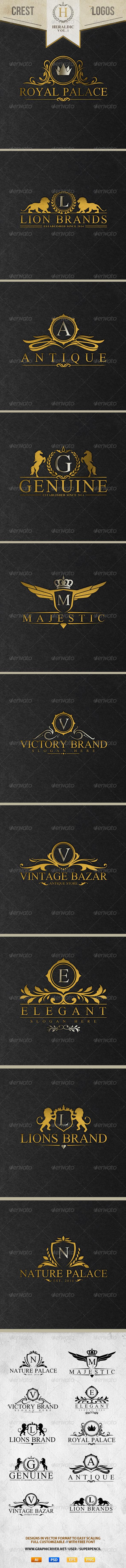 GraphicRiver Heraldic Crest Logos Vol.1 8586660