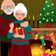 An Elderly Couple at the Fireplace on Christmas - GraphicRiver Item for Sale