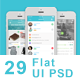 Flat Mobile App UI Design - GraphicRiver Item for Sale