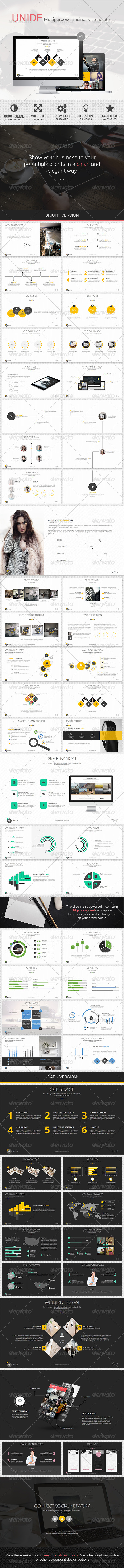 GraphicRiver UNIDE Powerpoint Presentation Template 8586768