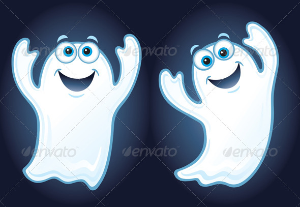 GraphicRiver Two Happy Ghosts 8587238