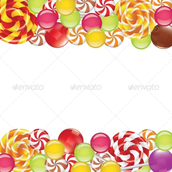 GraphicRiver Borders with Candies and Lollipops 8587311