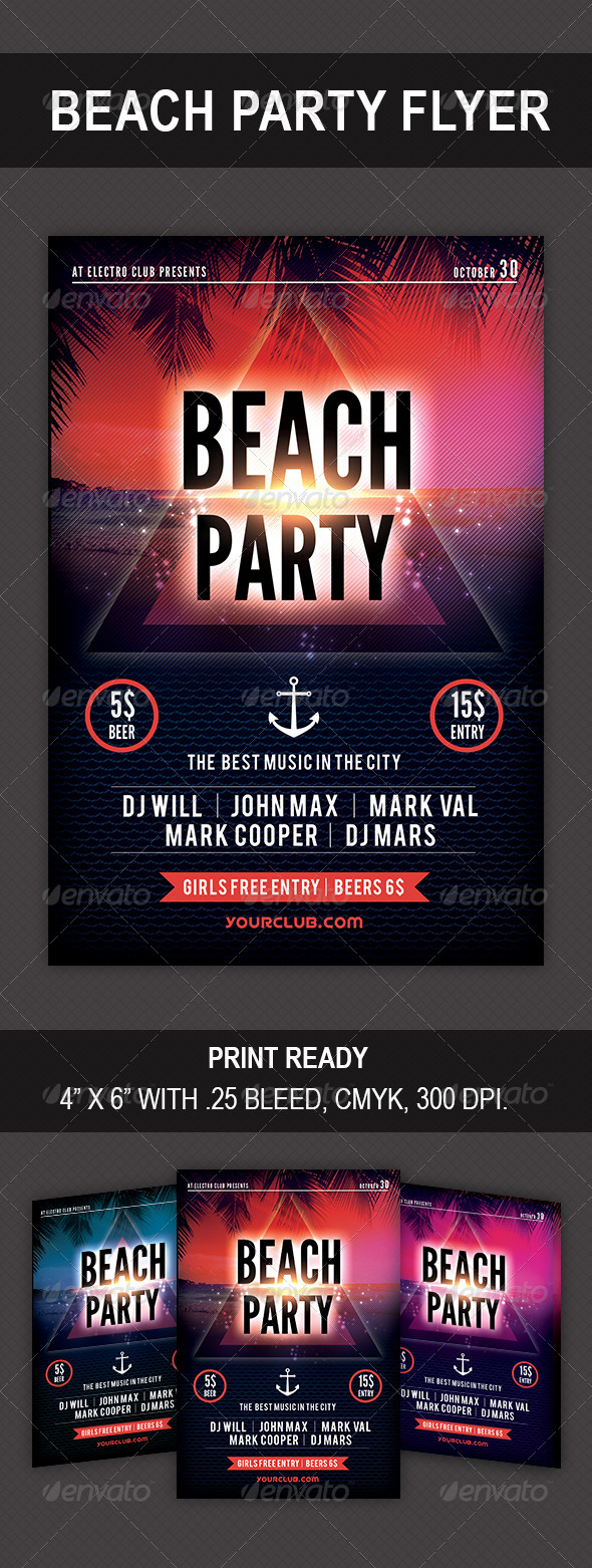 GraphicRiver Beach Party Flyer Vol 02 8587525