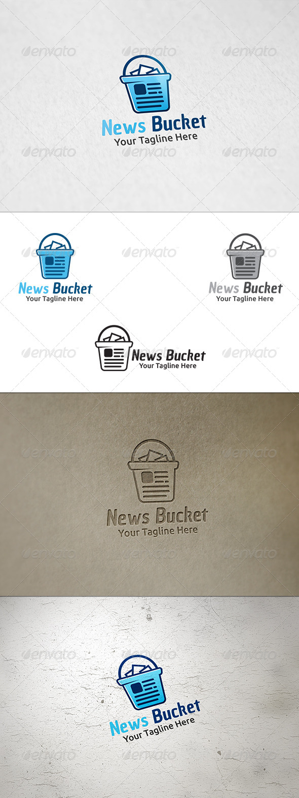 GraphicRiver News Bucket Logo Template 8587587