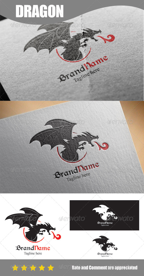 GraphicRiver Dark Dragon Shillouette 8587717
