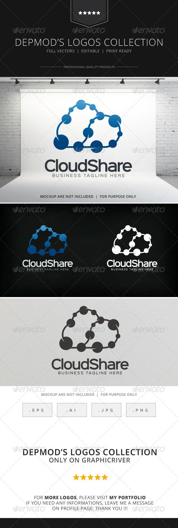 GraphicRiver Cloud Share Logo 8587844