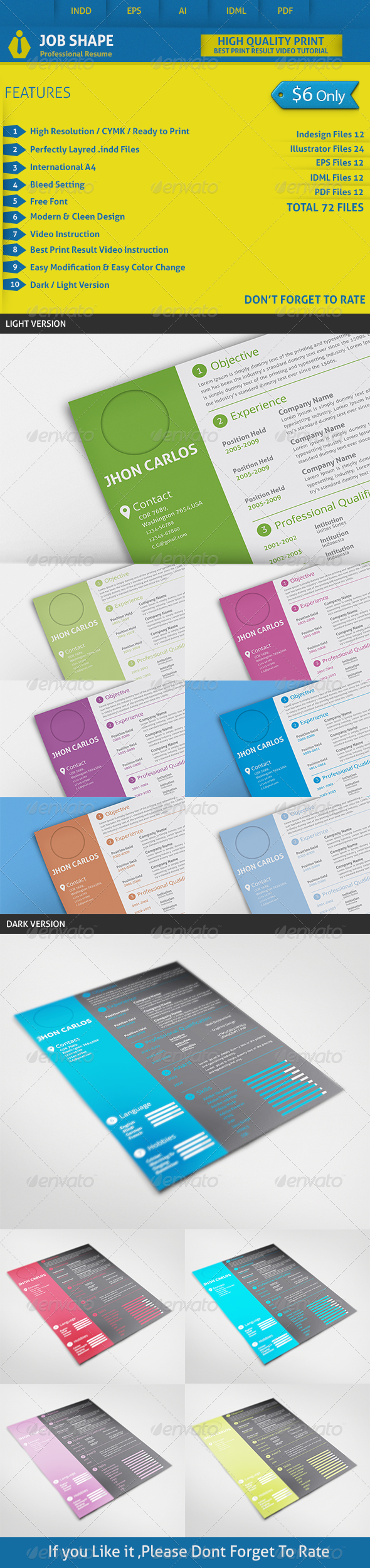 GraphicRiver Job Shape Resume 8583798
