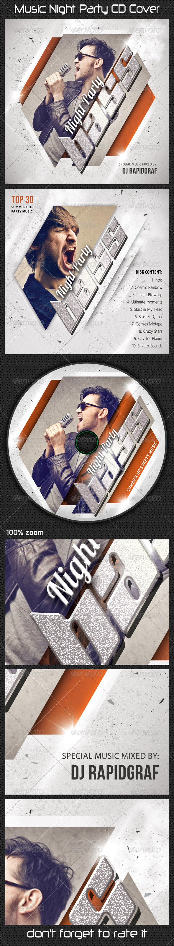 GraphicRiver Music Night Party CD Cover 12 8588032