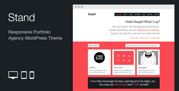 Stand: Responsive Agency Portfolio WordPress Theme - Portfolio Creative