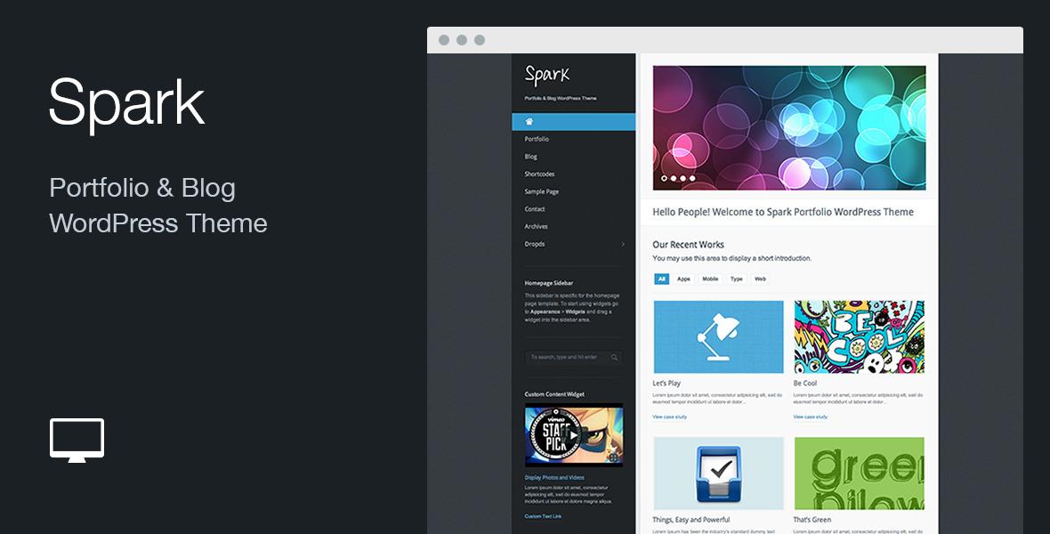 Spark: Portfolio & Blog WordPress Theme