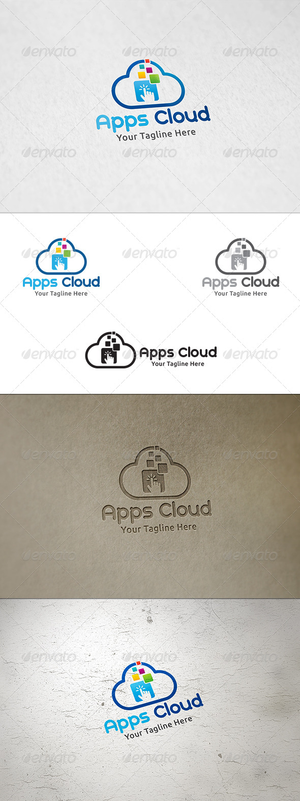 GraphicRiver Apps Cloud Logo Template 8588046