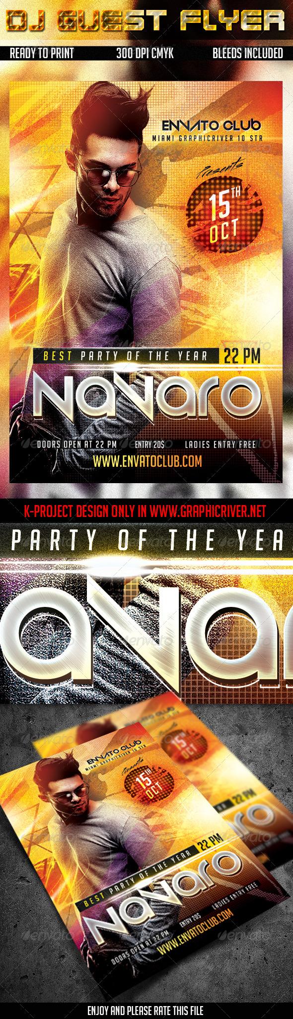 GraphicRiver DJ Guest Flyer 8588049