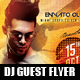 DJ Guest Flyer - GraphicRiver Item for Sale