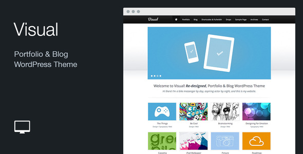 Visual: Portfolio & Blog WordPress Theme - Portfolio Creative