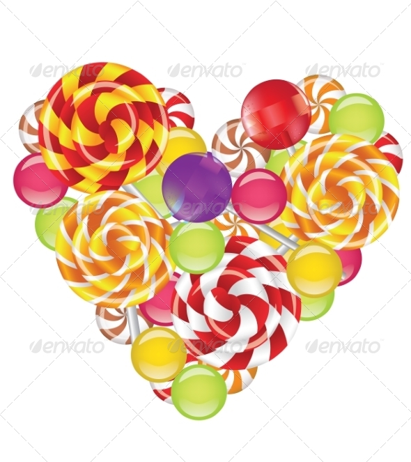 GraphicRiver Candies in Shape of Heart 8588072