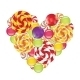 Candies in Shape of Heart - GraphicRiver Item for Sale