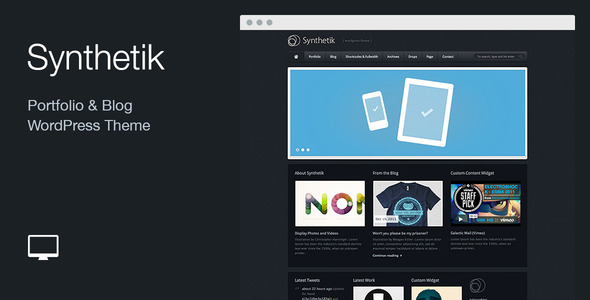 Synthetik: Portfolio & Blog WordPress Theme - Portfolio Creative