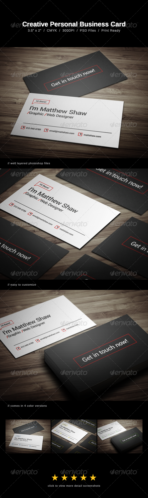 GraphicRiver Creative Personal Business Card 8588075