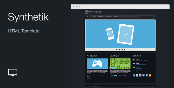 Synthetik: HTML Template - Portfolio Creative