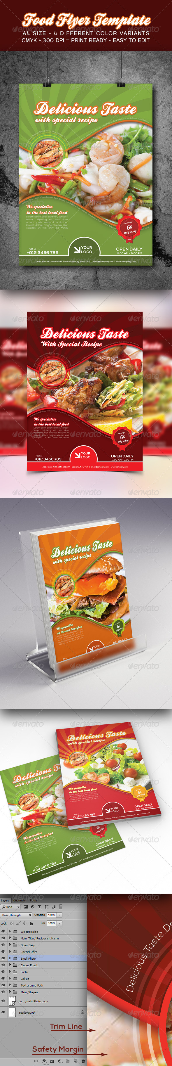 GraphicRiver Food Flyer Template 8570334