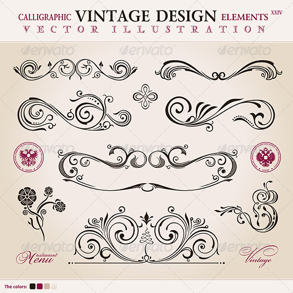 GraphicRiver Calligraphic Design Elements 8588278