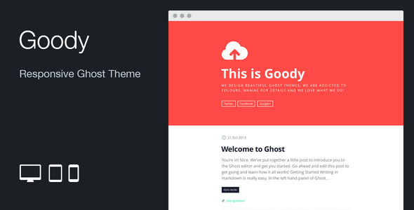 Goody: Responsive Flat Ghost Theme - Ghost Themes Blogging