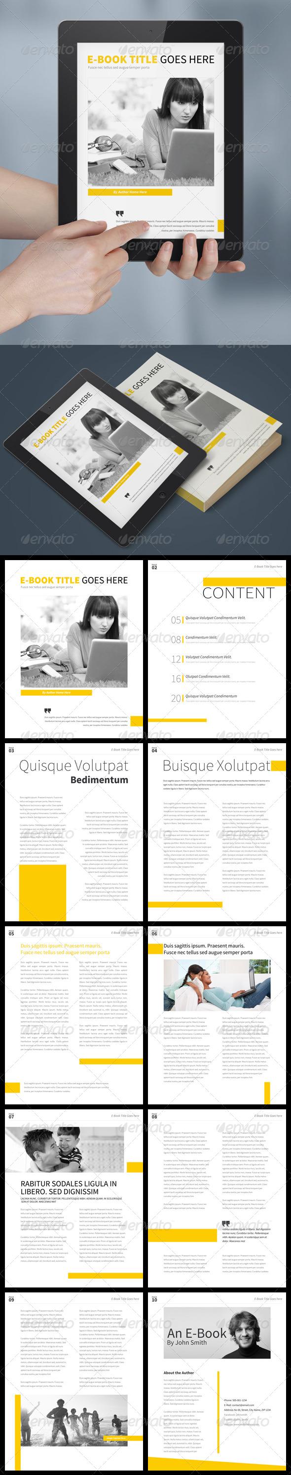 GraphicRiver Simple E-Book Template 8588361