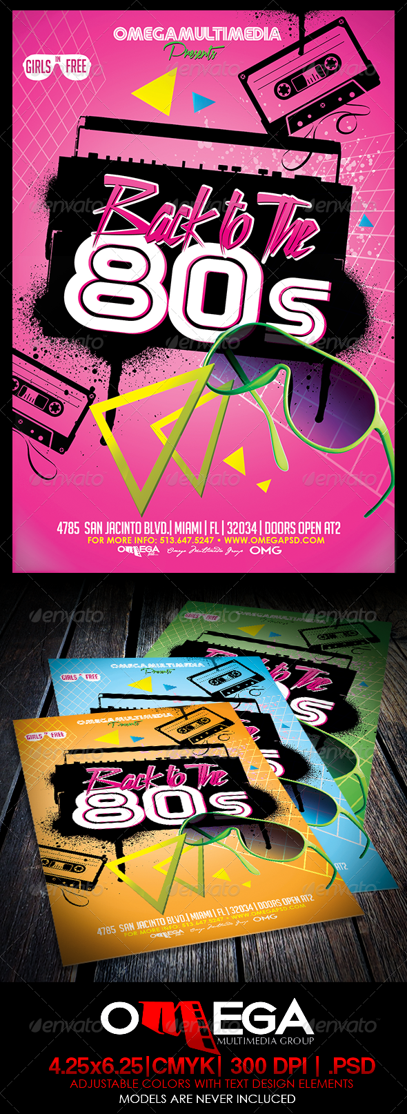GraphicRiver Back to the 80 s 8588395