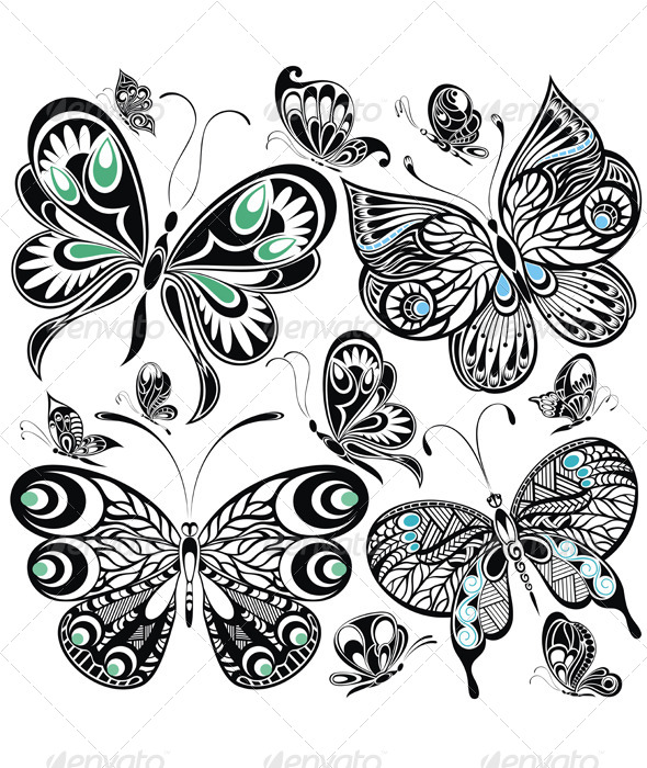 GraphicRiver Butterfly Set 8588546