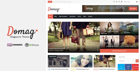 Domag l Flat Responsive Retina WordPress Magazine - News / Editorial Blog / Magazine