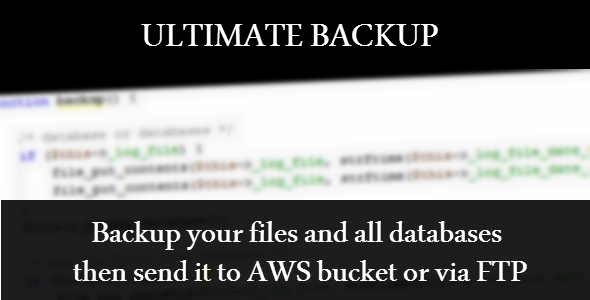 CodeCanyon Ultimate Backup 8495253