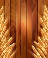 Ears of wheat on wooden background.  - PhotoDune Item for Sale