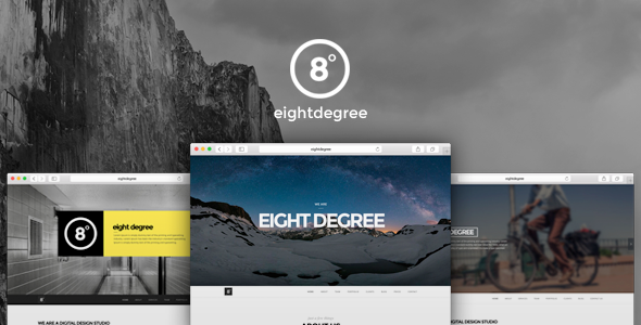 Eight Degree - One Page Parallax Theme - Portfolio Creative