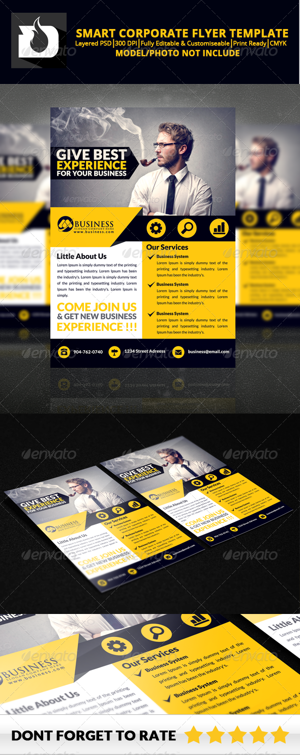 GraphicRiver Smart Corporate Flyer Template V2 8586089