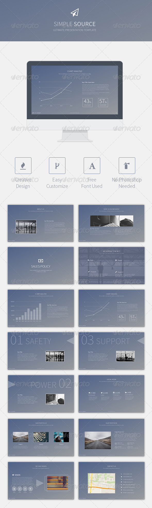 GraphicRiver Simple Source Keynote Template 8588882