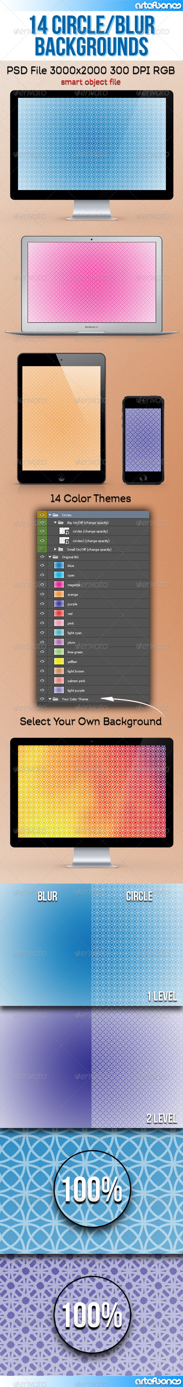 GraphicRiver 14 Circle and Blur Backgrounds 8588944