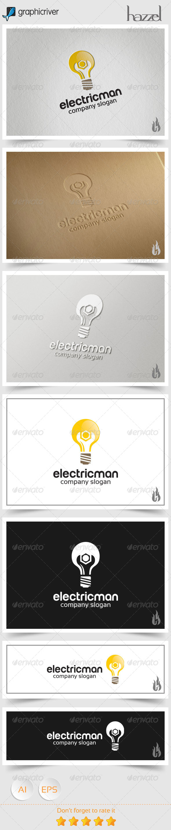 GraphicRiver Electricman Logo 8588970