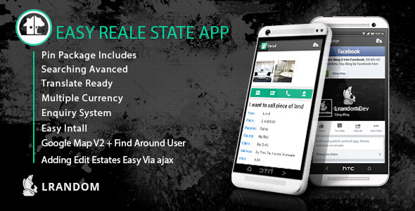 CodeCanyon Easy Real Estate App come with admin panel 8588974