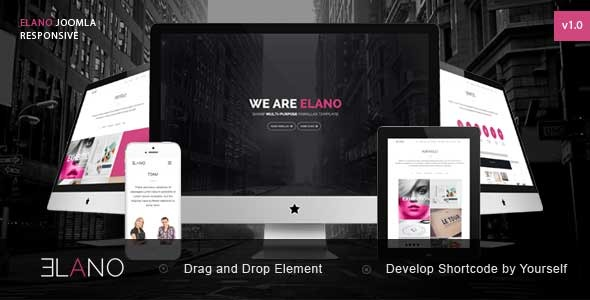 Elano - Sharp Multi-Purpose Joomla Template