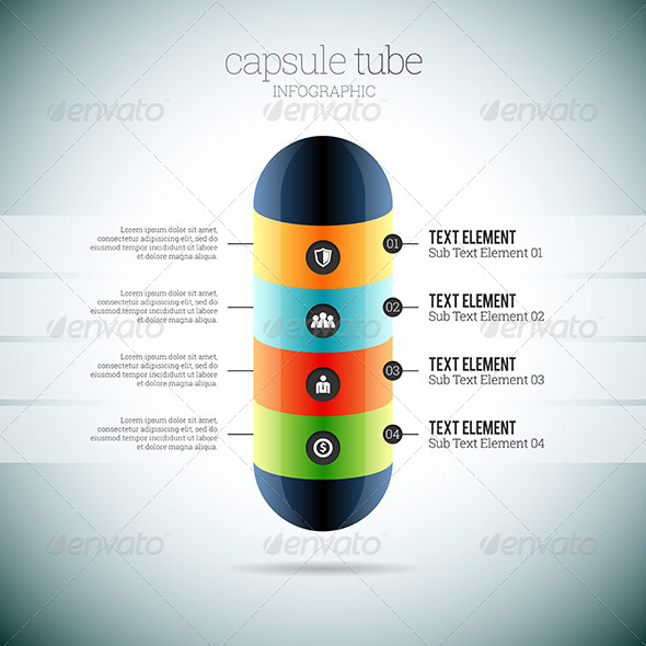 GraphicRiver Capsule Tube Infographic 8589232