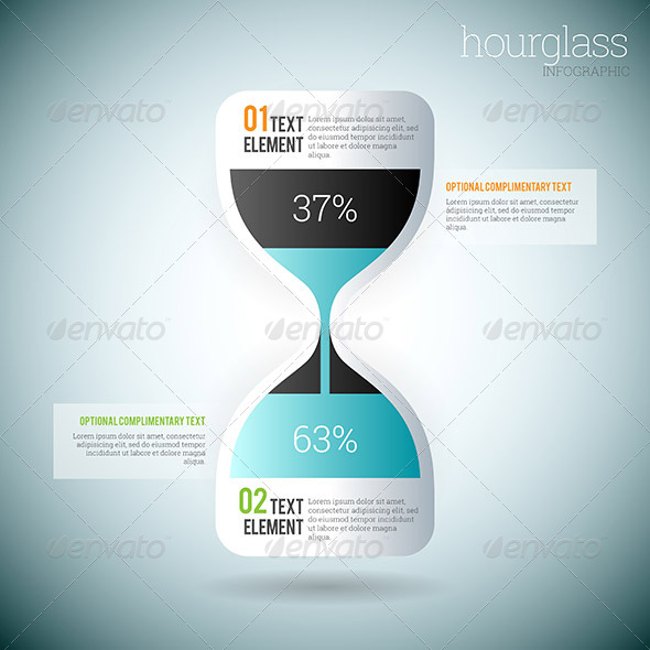 GraphicRiver Hourglass Infographic 8589236
