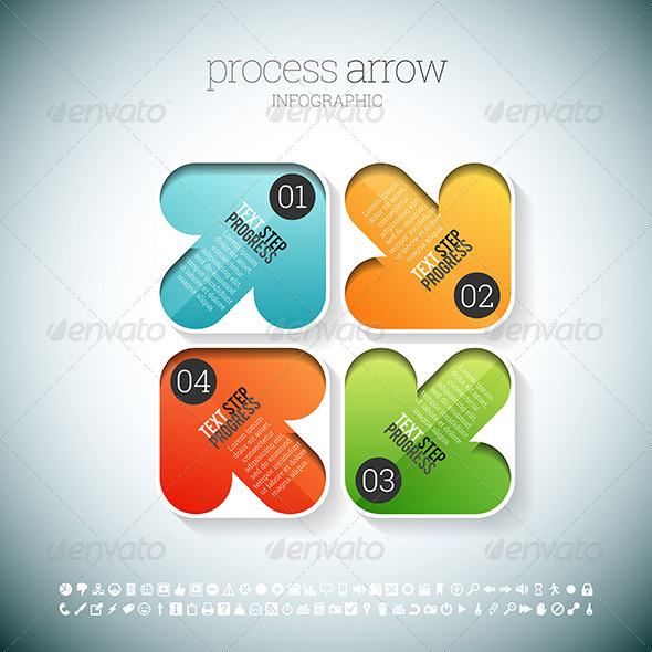 GraphicRiver Process Arrow Infographic 8589237